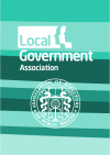 Turquoise graphic with Local Gov Association and Association for directors of public health