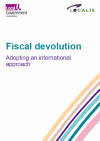 Fiscal devolution publication front cover