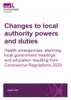 Coronavirus Regulations 2020: health emergencies, planning, local government meetings and education