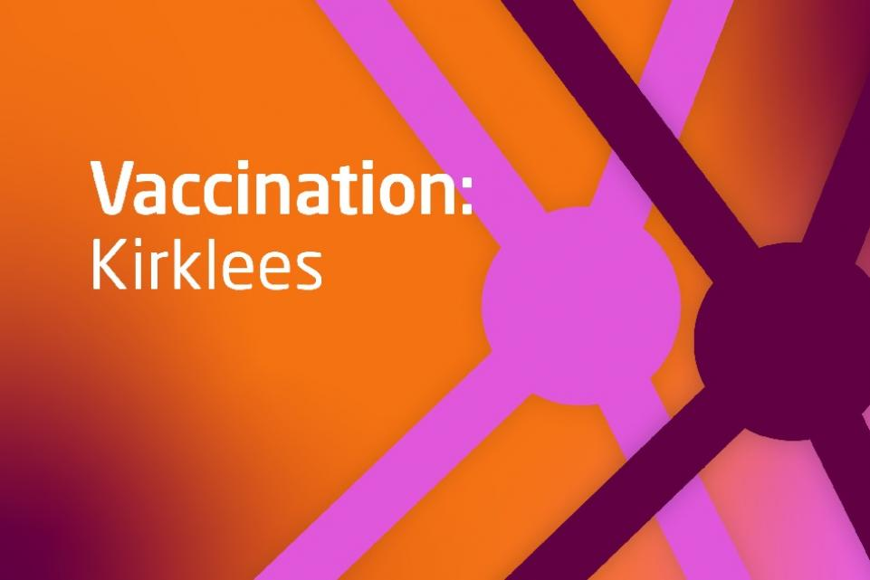Decorative image with text Vaccination kirklees