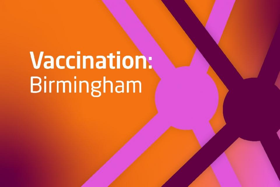 Decorative image with text Vaccination: Birmingham