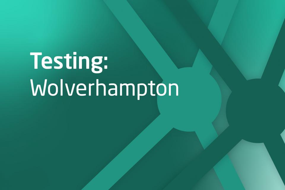 Graphic with text Testing Wolverhampton