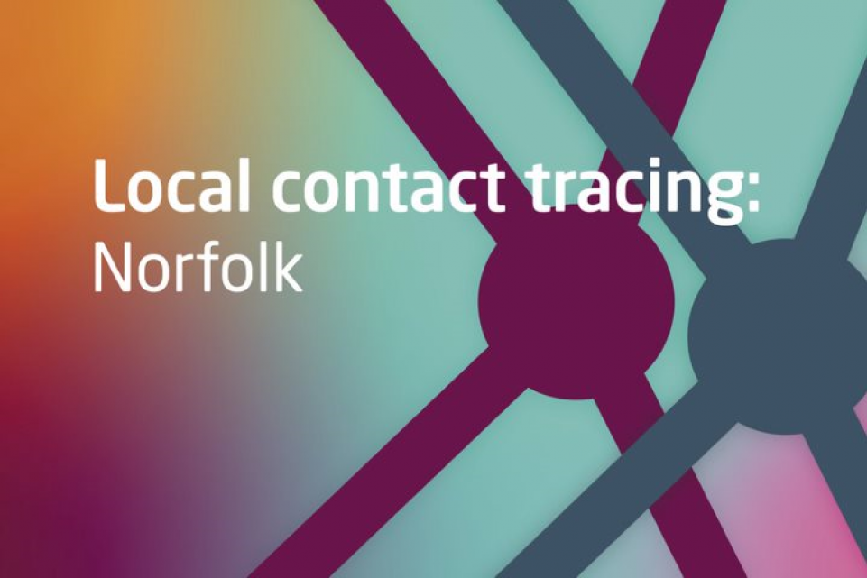 Text: Local contact tracing: Norfolk
