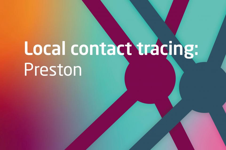 Text: Local contact tracing: preston