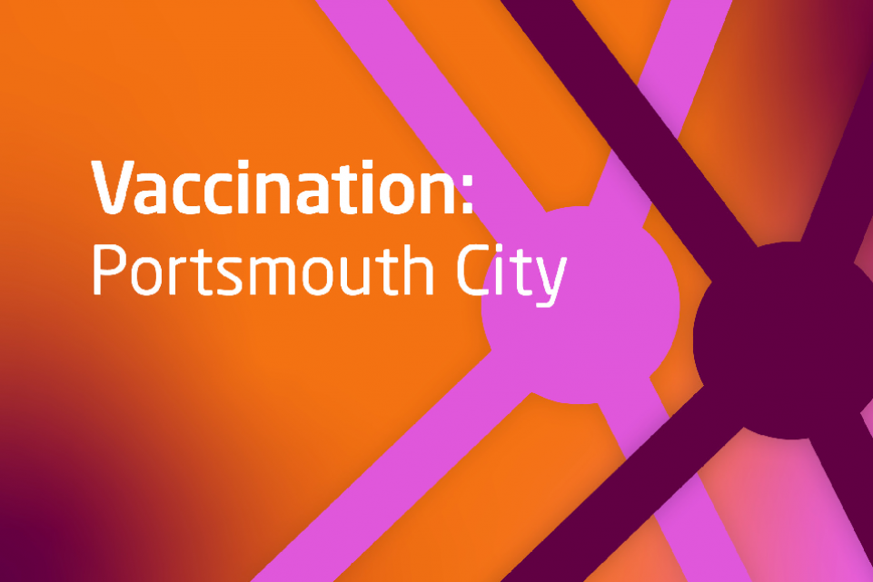 Decorative image with text Vaccination Portsmouth