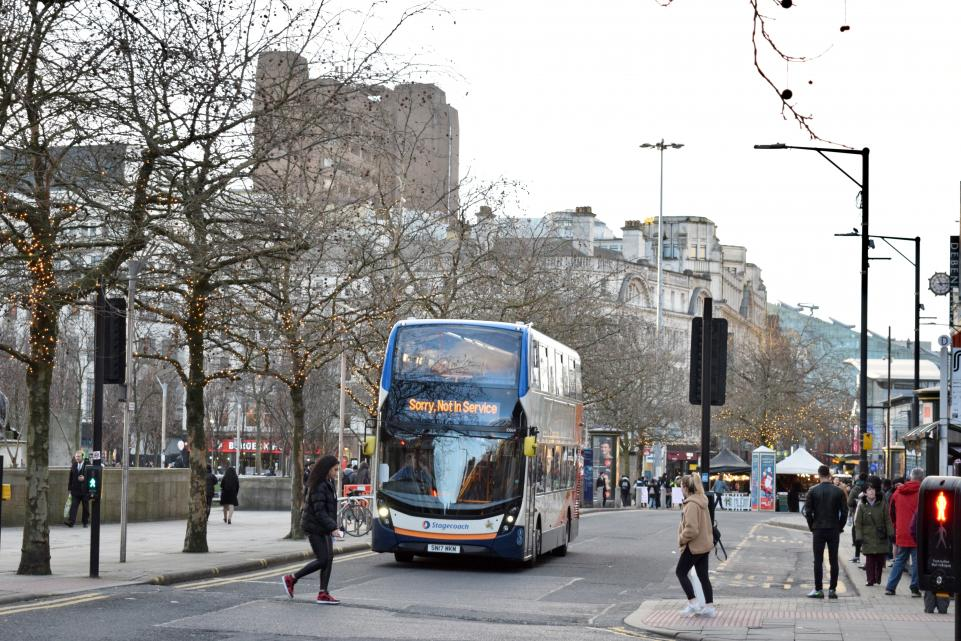 Stagecoach bus on street